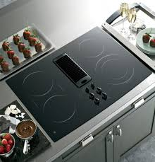 ge pp989dnbb 30 inch smoothtop electric downdraft cooktop with 400