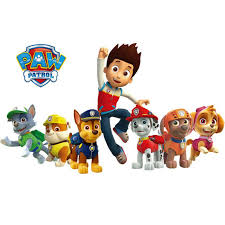 3d paw patrol wall waterproof sticker cartoon animals police dogs