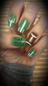 super cute super ready superbowl nail design by lizy youtube
