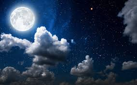 full moon on starry night full hd wallpaper and background