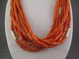 gold orange necklace images Coral 14kt gold necklace native american gold coral necklace jpg