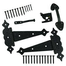 everbilt black decorative gate tee hinge and latch set 20207 the