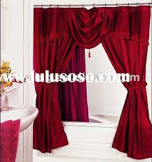 Bathroom Valance Curtains Double Swag Shower Curtain With Valance Double Swag Shower