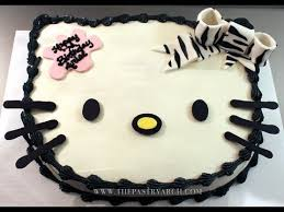 hello kitty cake with zebra print bow check out how to make this