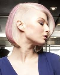 undercut bob with pink and white hair haircuts 2018 women