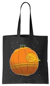 death star pumpkin halloween tote bag teeshirtpalace
