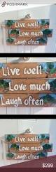 free people home decor live well sign home decor hanging wall art boutique studios
