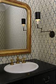 Moroccan Bathroom Vanity by Powder Room Wallpaper Chic Powder Room Features Phillip Jeffries