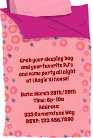 slumber party invitation u2013 gangcraft net