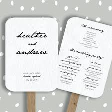 wedding program paddle fan template template paddle fan template wedding program editable in word
