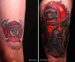 firefighter coverup by gabriel tenneson tattoonow