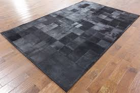 Patchwork Area Rug 6 X 9 Black Cowhide Patchwork Leather Area Rug