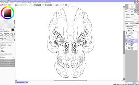 my terminator sketch paint tool sai testing by unreal