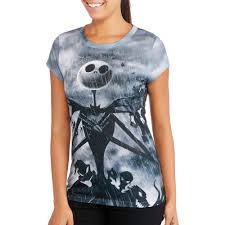 halloween disney shirts juniors u0027 short sleeve sublimated halloween tee nightmare before