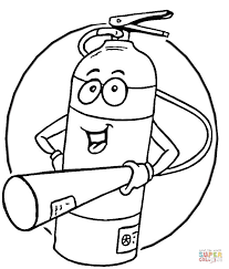 extinguisher coloring free printable coloring pages