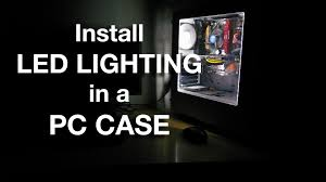 pc led light strips how to install led lighting in a pc case youtube