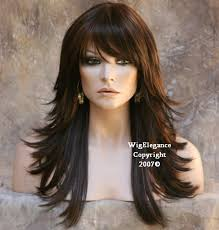 how to cutting bangs in a layered hairstyle multi layered black auburn mix wig wigs bangs flip fn color