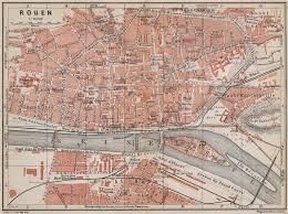 map of rouen rouen antique town city plan de la ville seine maritime carte