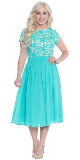 semi formal modest bridesmaid dress in turquoise blue tiffany