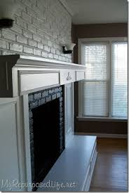 Fireplace Cover Up 81 Best Painted Brick Fireplaces Images On Pinterest Fireplace