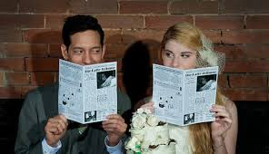 newspaper wedding program take your wedding programs to the next level with these ideas