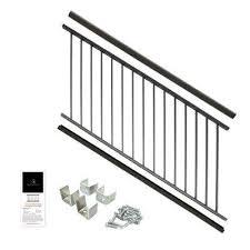Deck Stair Handrail Height Aluminum Deck Railing Systems Deck U0026 Porch Railings The Home
