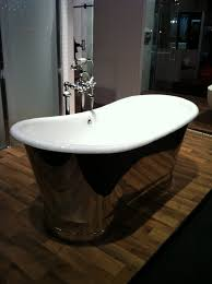 beautify your world bathroom trends for 2013 mixing vintage and modern elements was prevalent at the design show wouldn t this tub make a stunning focal point in an ensuite