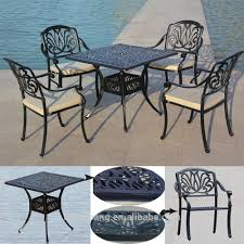 heavy duty all weather resistant round dining table and chairs