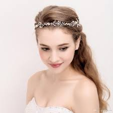 wedding headband antique gold bridal headpiece handmade hair vine wedding