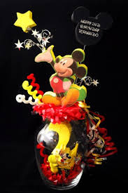 mickey mouse centerpieces mickey mouse glass vase centerpiece adianezh on artfire