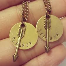 custom necklaces for couples forever and always necklace set arrow necklaces custom best