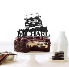 happy birthday jeep cake off road jeep personalized cake topper off road toppers