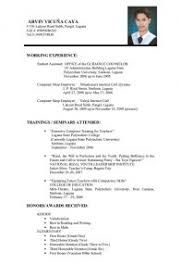 Job Resume For Freshers by Resume Format For Freshers Pdf Free Download