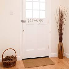 Quotes Wall Decor Ps I Love You Door Entryway Foyer Quote Wall Decals Stickers