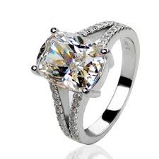 4 85ct nscd sona simulated solitaire diamond engagement wedding