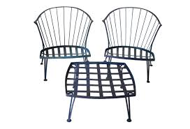 Black Metal Patio Chairs C Vintage Patio Set Omero Home Outdoor Metal Chairs And