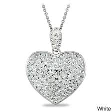 white crystal necklace images Crystal ice crystal heart necklace with swarovski elements free jpg
