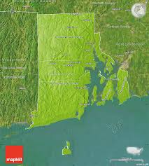 Physical Map United States Physical Map Of Rhode Island Satellite Outside