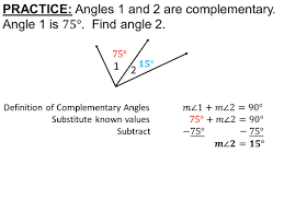 supplementary and complementary angles worksheets how to read