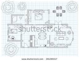 Sketch Floor Plan Black White Floor Plan Sketch House Stock Vector 246621421