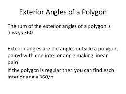How To Calculate Interior Angles Of An Irregular Polygon Sum Of Interior Angles And Exterior Angles Sum Of Interior Angles