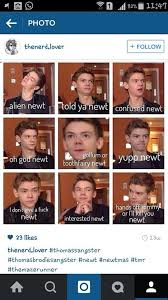 Faces Of Memes - the many faces of thomas sangster hahahahahaha sorry for the