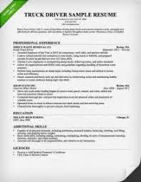 Resume Objective For Truck Driver Sample Resume Objective Truck Driver Current Way Of Writing