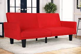 Red Sofa Furniture Amazon Com Dhp Metro Split Futon Red Microfiber Kitchen U0026 Dining