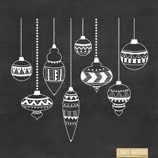 chalkboard ornaments digital clipart vector set