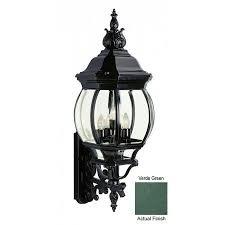 verde green outdoor wall light trans globe 40522 vg classic five light french outdoor lantern