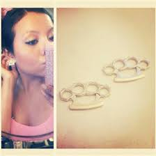 swag earrings jewels studs earrings gold brass knuckles swag pretty