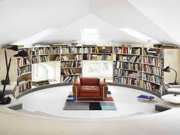 decorations excellent home library inspiration with curve modern
