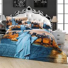 New York Bed Set Aliexpress Buy Statue Of Liberty 3d New York Scenic City