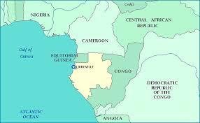 gabon in world map map of gabon
